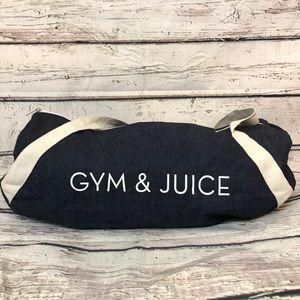 Gym & Juice  duffel gym bag, Denim